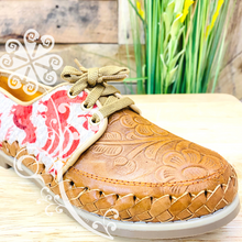Red Otomi Animals - Loafers Artisan Leather Women Shoes