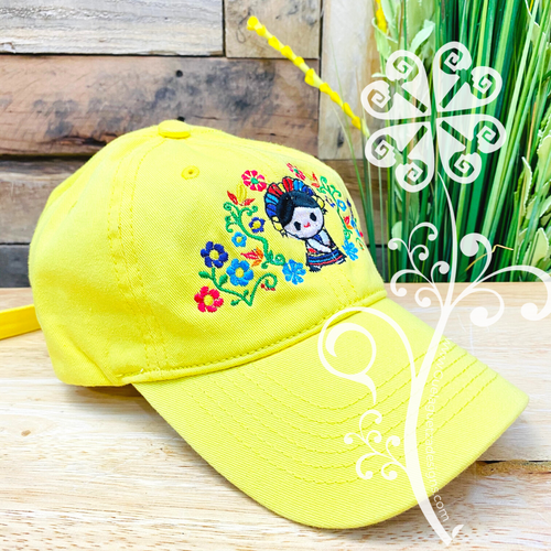 Otomi Doll Embroider Cap