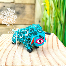 Mini Bull Alebrije Handcarve Wood Decoration Figure