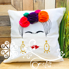 Beige Frida Embroider Pillow
