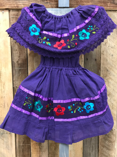 Aro Embroider Campesino Children Dress