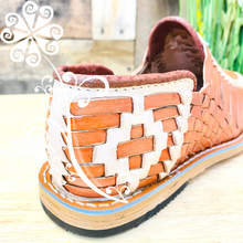 Terracotta with Beige Tejido Leather Men Shoes