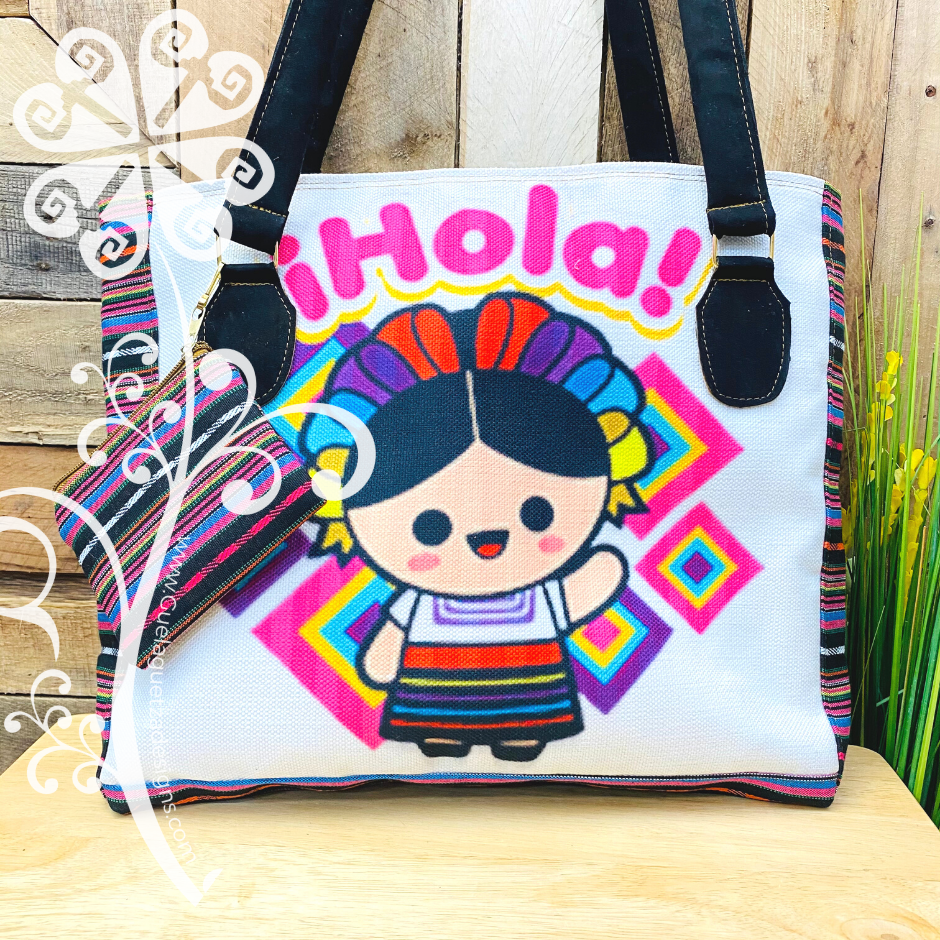 Black Mix Doll Purse Set- Hola Style