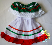 Tricolor Mexican Campesino Children Dress