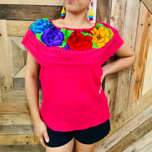 Chiapas Campesina Embroider Women Top