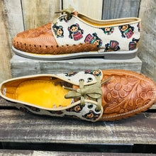 Loafers Artisan Leather Women Shoes - Multicolor Doll