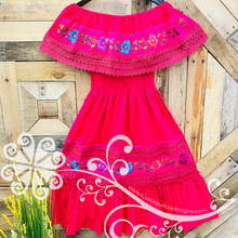 Campesino Dress- Double Embroider
