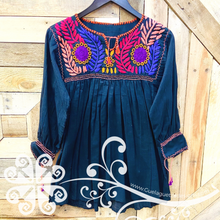 Colorful Embroider Rococo Top - Long Sleeve