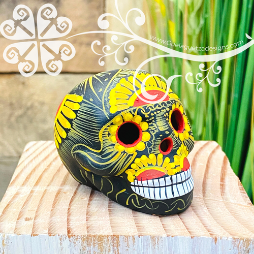 Little Small Hand Painted Sugar Skull  - Calaverita Guerrero