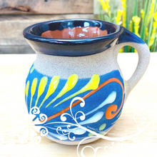 Set of 4 Decorated Mexican Clay Mugs - Jarrito Mexicano