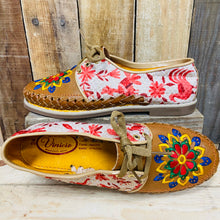 Embroider Loafers Artisan Leather Women Shoes - Red Otomi Animals