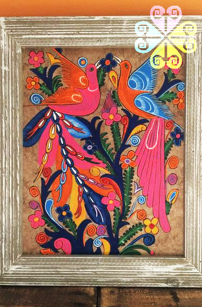 Pintura de Papel Amate/Hand Painted Decoration Frame – Guelaguetza ...