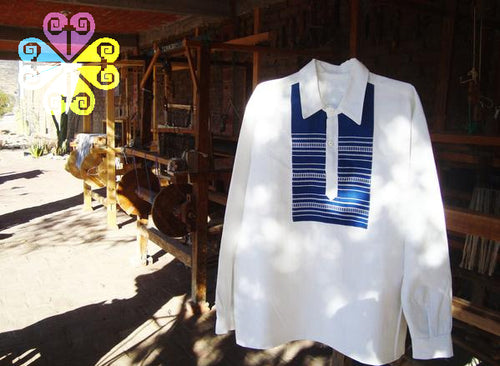 Long Sleeve Pedal Loom Shirt- Square Design