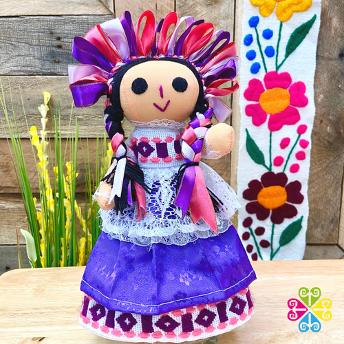 Purple Maria Mexican Otomi Doll