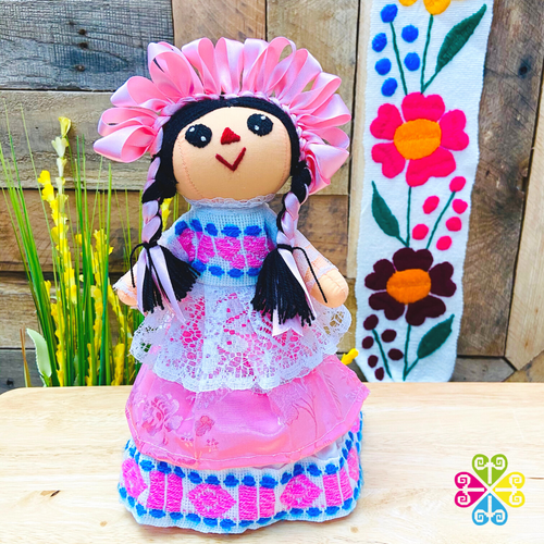 Pink Maria Mexican Otomi Doll