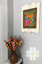 Pintura de Papel Amate/Hand Painted Decoration Frame