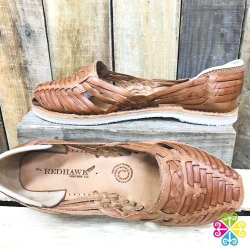 Traditional Flat Panchitos - Natural Leather
