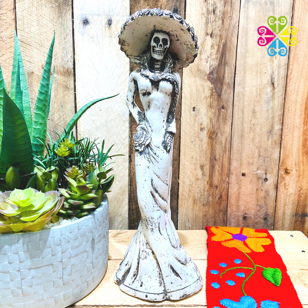 Catrina Day of the Dead Decoration statue - Scarf Design