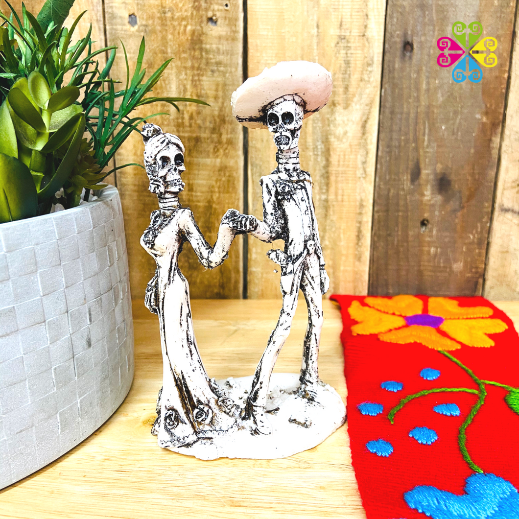 Little Couple Day of the Dead Decoration statue - Dancing