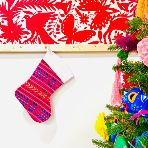 Mexican Cambray Christmas Stockings