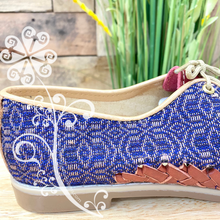 Embroider Loafers Artisan Leather Women Shoes - Purple Pedal Loom