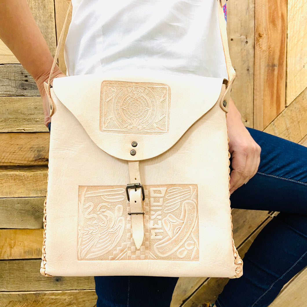 Leather Square Crossbody