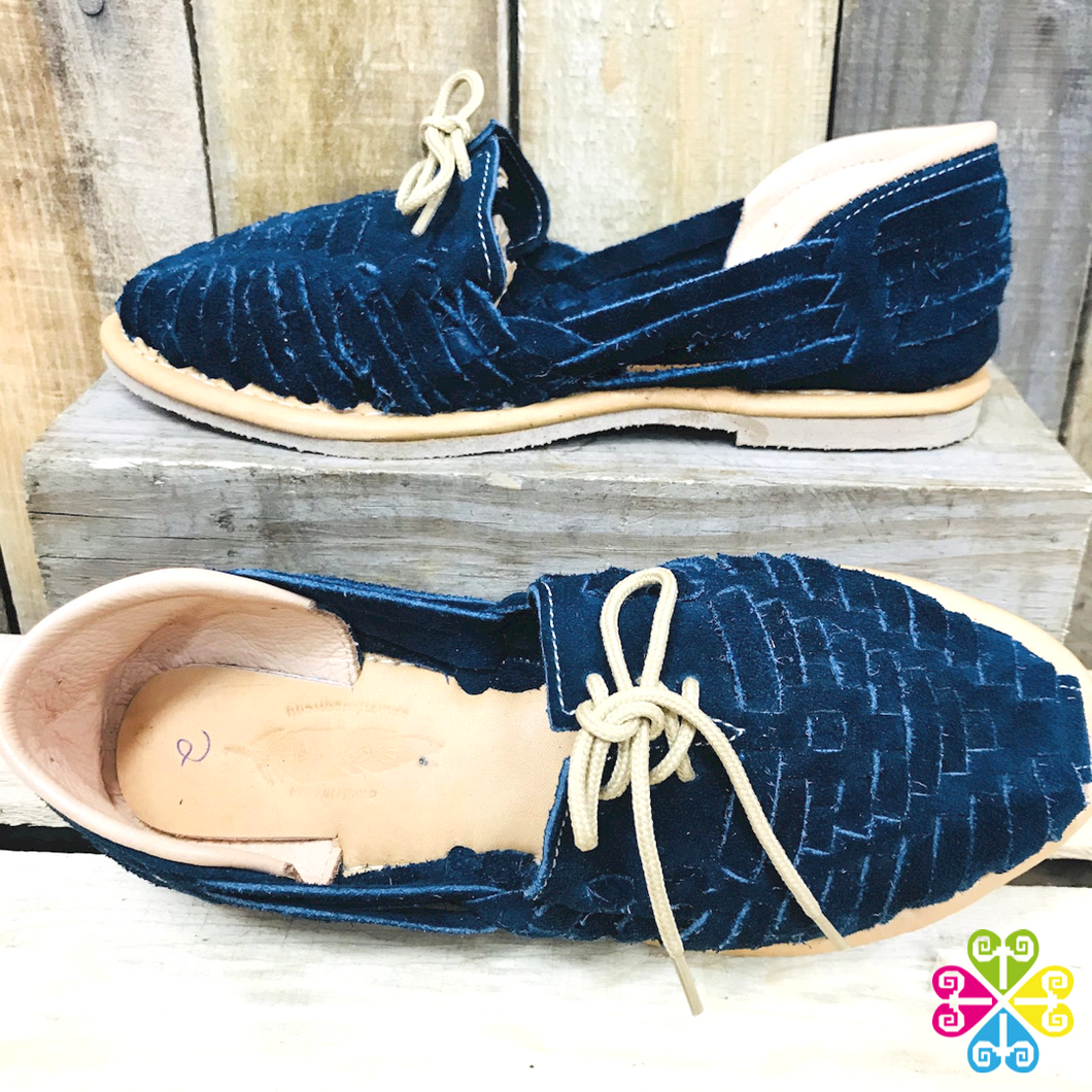 Traditional Flat Panchitos - Blue Suede