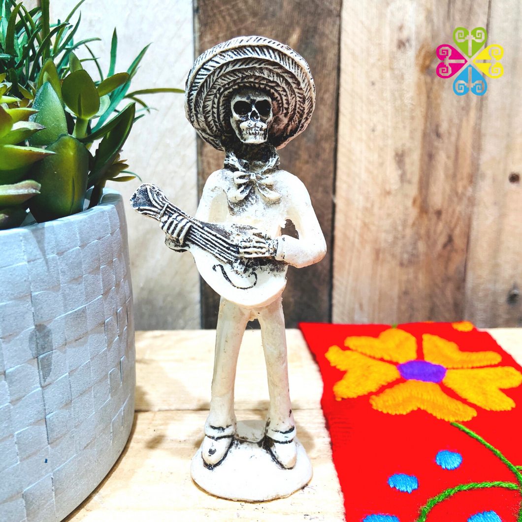 Little Mariachi Day of the Dead Decoration statue - Mandolina Guitar