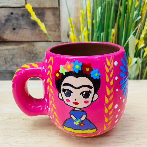 Frida Doll Hand Painted Mug - Round Shape