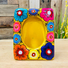 Hand Painted Picture Frame -Flowers Vertical
