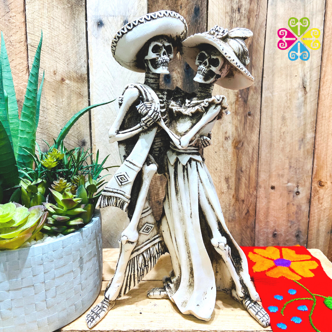 Dancing Couple Day of the Dead Decoration statue - Large