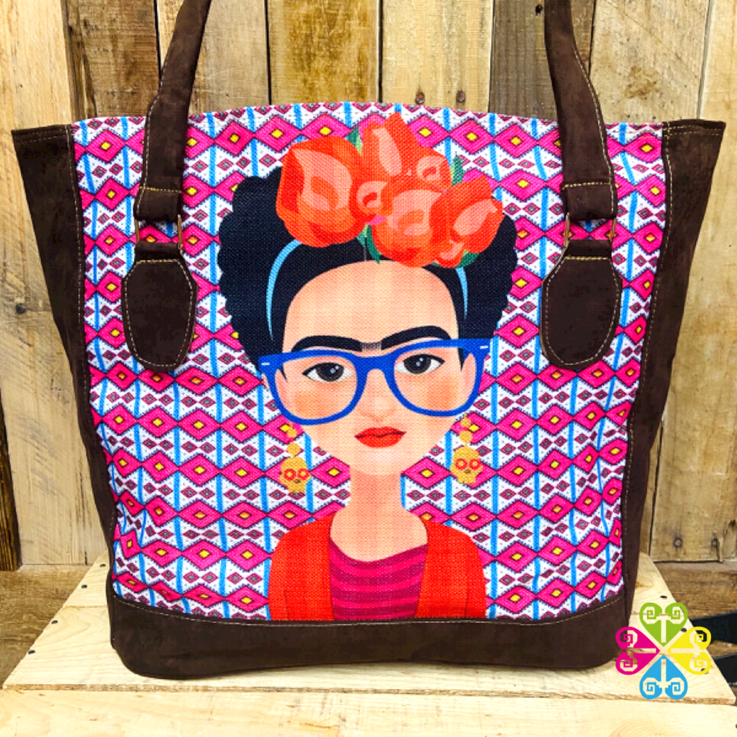 Frida with Glasses - Dark Brown