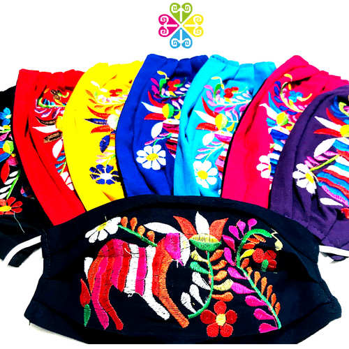 Otomi Embroider Facemasks - CHILDREN