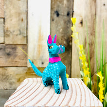 Mini Dog Schnauzer Alebrije Handcarve Wood Decoration Figure