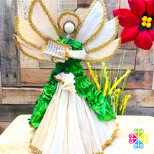 Large Angel Corn Husk Tree Topper