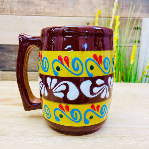 Stripes Big Clay Mug - Barrilero