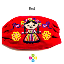 Otomi Doll Embroider Facemasks - WOMEN