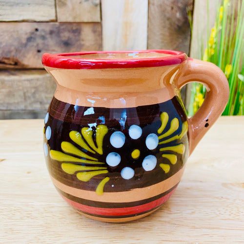 Red Big Round Clay Mug