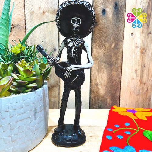 Mariachi Day of the Dead Decoration statue - Classic Guitar