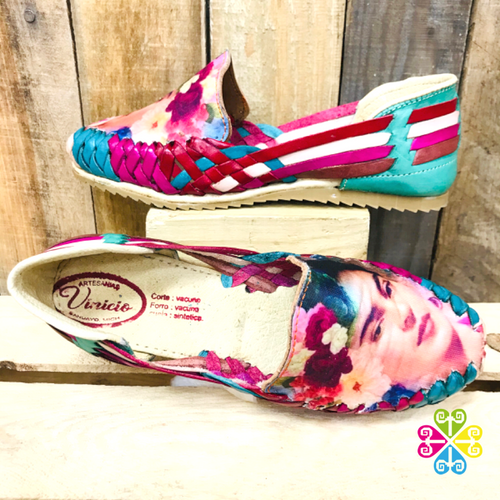 Frida Flat Shoes- Teal Multicolor Panchitos