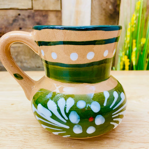 Green Daffodil Clay Mug