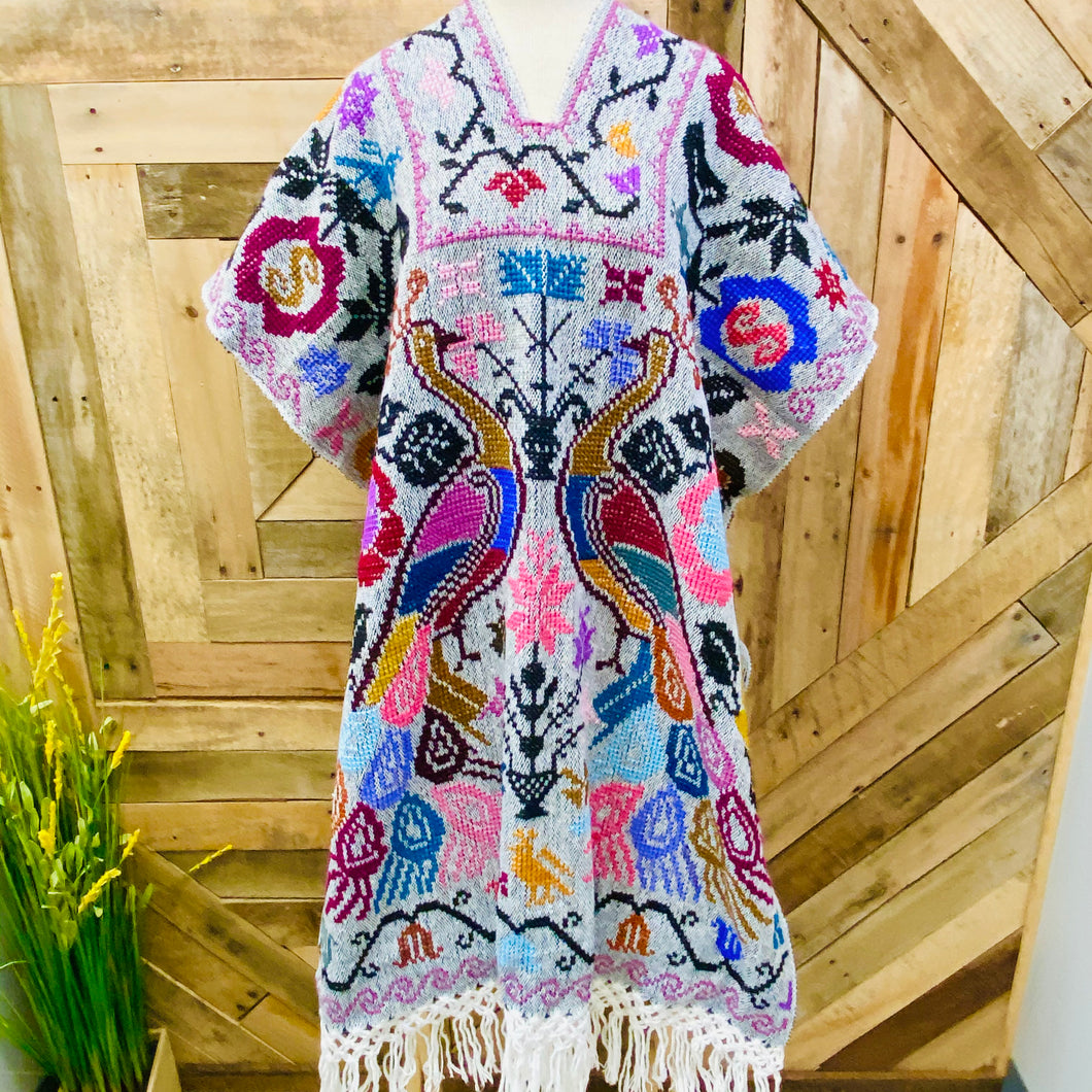 Embroider Long Poncho - Gaban