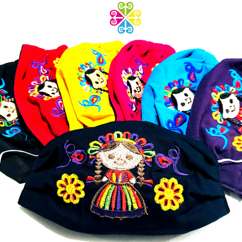 Otomi Doll Embroider Facemasks - CHILDREN