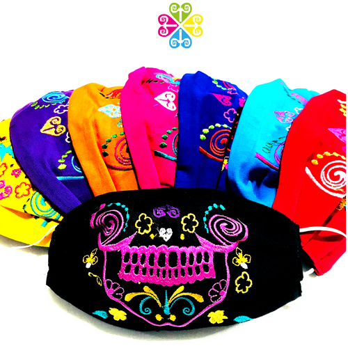 Catrina Embroider Facemasks- Day of the Dead Design - WOMEN