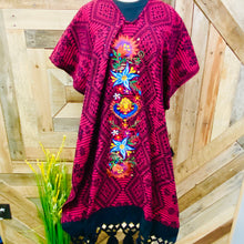 Long Poncho - Gaban Silk Embroider