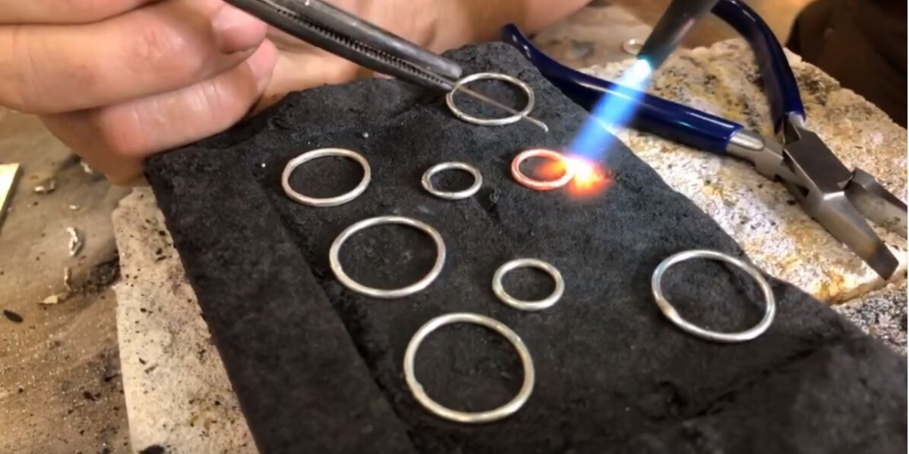 "#StayatHome Virtual Silversmithing! ""From Fire to Fashion"" with Backyard Silversmiths Jewelry - Small Double Hoop Earrings"