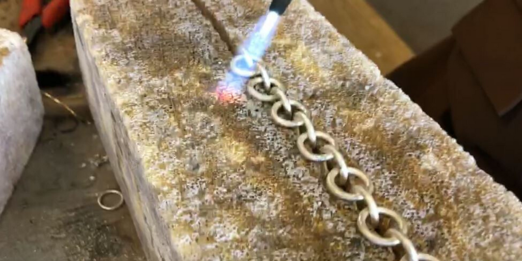 "#StayatHome Virtual Silversmithing! ""From Fire to Fashion"" with Backyard Silversmiths Jewelry - Chain Link Bracelet"