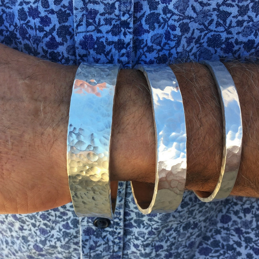 Backyard Silversmiths Handcrafted Artisan Silver Cuffs