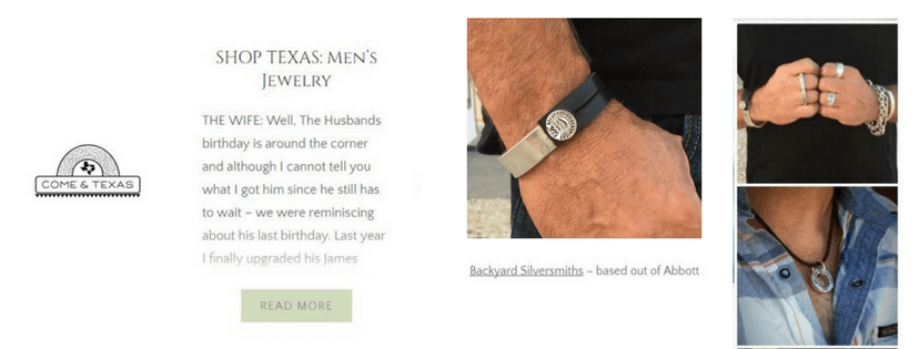 ComeandTexas Blog - Shop Texas Men's Jewelry - Backyard Silversmiths