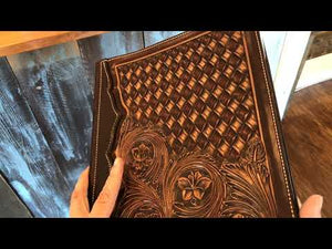 Ladies Leather Portfolio - Backyard Silversmiths Artisan Find